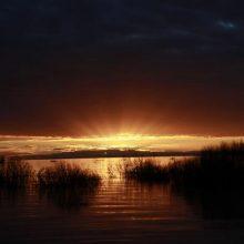 Sun rises over Menindee lakes